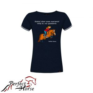 "T-shirt koszulka Cartoon ""Okser"" granat- Perfect Horse"