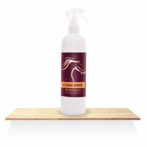 CLEAN WHITE Shampoo -suchy szampon do siwych koni- Over Horse, 400ml