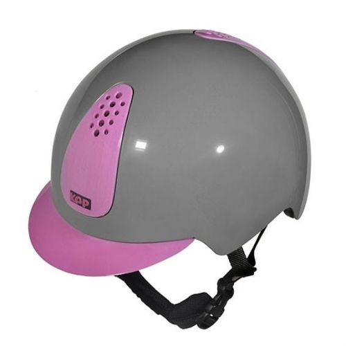 Kask KEPPY GREY AND PINK - KEP Italia, przód.